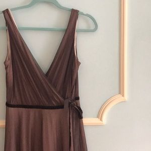Brown Tulle Wrap Dress